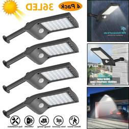 1/2/4pcs 36LED Solar Motion Sensor Wall Lamp Waterproof Gard