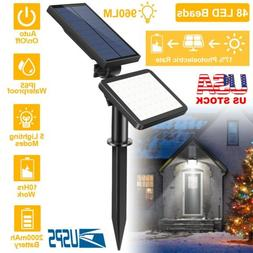 120 LED Black Solar Powered Motion Sensor Wall Garden Securi