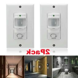2Pack Infrared PIR Occupancy Vacancy Motion Sensor Auto On/O