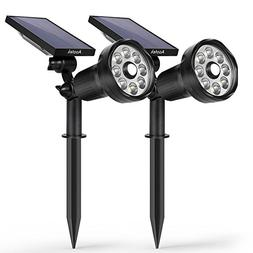 New 3rd Generation Motion Sensor Solar Spotlight 8 LED Adjus