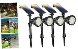 4 PCS Motion Sensor Solar Spot Lights Outdoor,18 LED Landsca