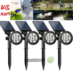 4Pack Solar Lights Motion Sensor 7LED 1000LM Landscape Outdo