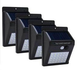 4pcs LED Solar Light Motion Sensor Outdoor Garden Lamp Decor