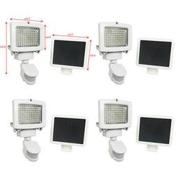 4 PACK 80 SMD LEDs Outdoor Solar Motion Sensor Security Floo