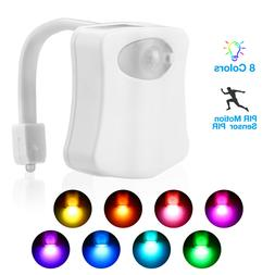 8 Colors Lamp Toilet Bowl Night Light LED Motion Activated S