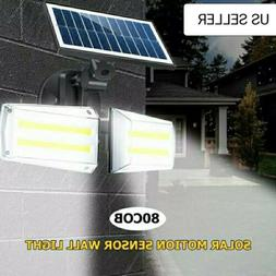 80 LED 80 COB 20W Solar Light Outdoor Waterproof Infrared PI