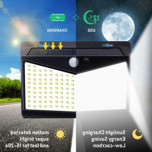 208 LED Solar Power Light Security Outdoor Lamp US