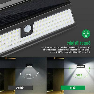 118 LED Solar Waterproof Wall Lamp