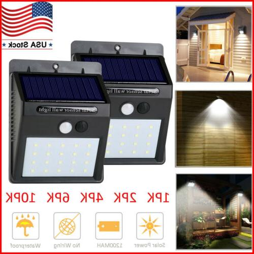 20 led solar lights motion sensor wall