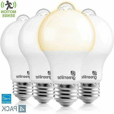 4x a19 led motion sensor light bulbs
