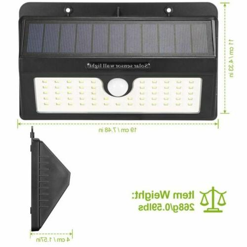 55LED Solar Motion Sensor Wall Outdoor Garden Path Yard Lamp