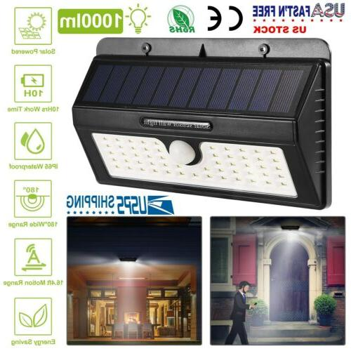 55led solar power pir motion sensor wall