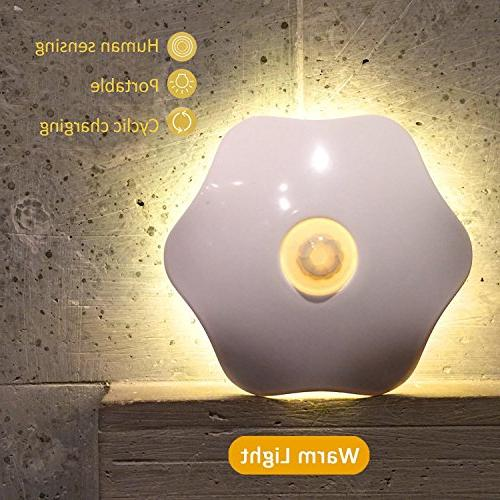 Motion Activated Night Lithium Battery Powered Motion Sensor Night Stick-on Anywhere, Safe for Bathroom, Kitchen
