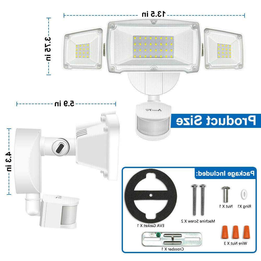 Motion Sensor Outdoor 35W Ultra Bright 3500LM LED Security Flood Lights