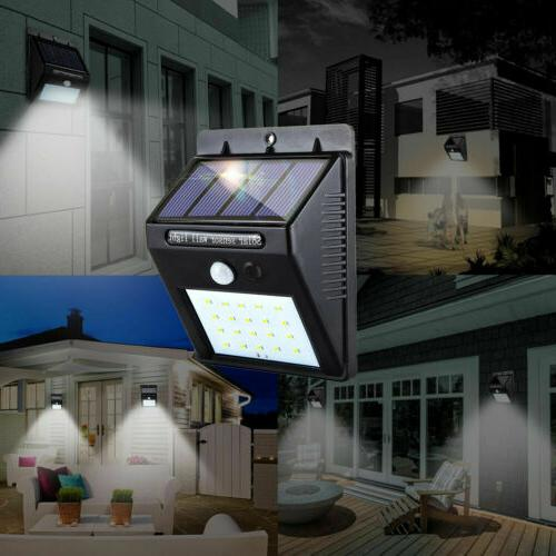 Outdoor 4 X Solar Wall Power Motion Sensor Yard Lamp