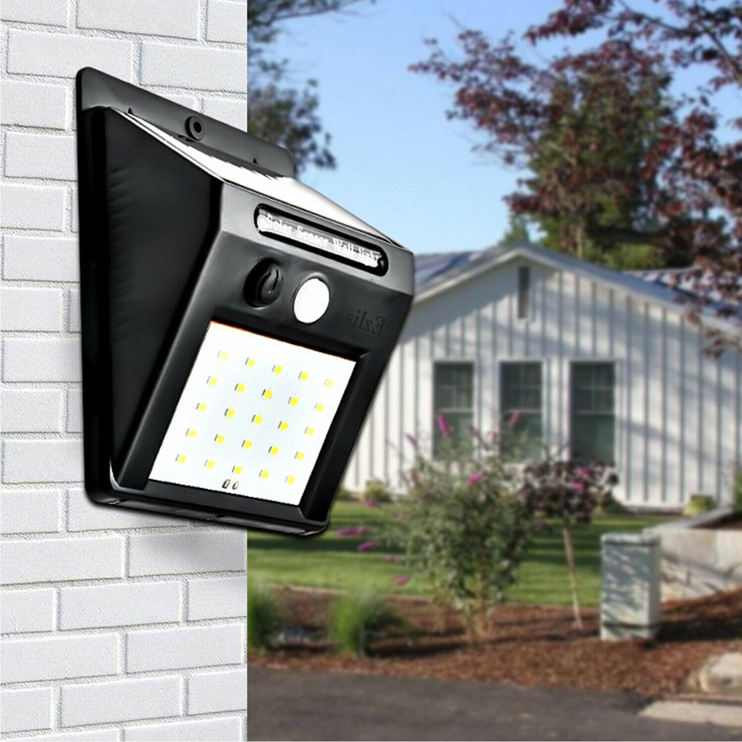 Outdoor Solar Wall Lights Motion Yard Path