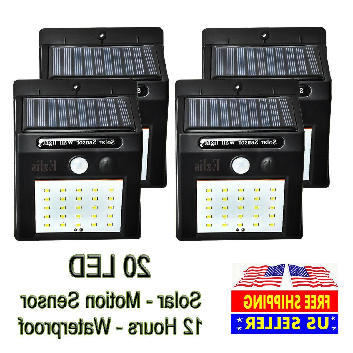 outdoor 20 led solar wall lights power