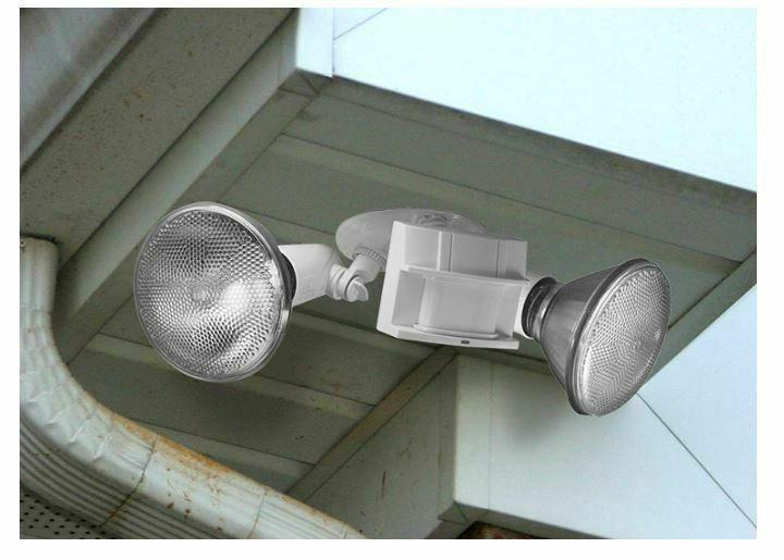 Outdoor Sensor LED Flood Light Security Dual Yard Wall Mount