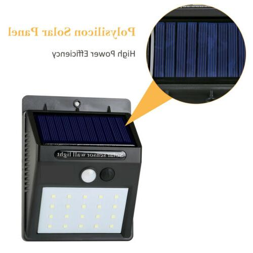 20 Solar Motion Sensor Light Outdoor Yard Lamp Waterproof