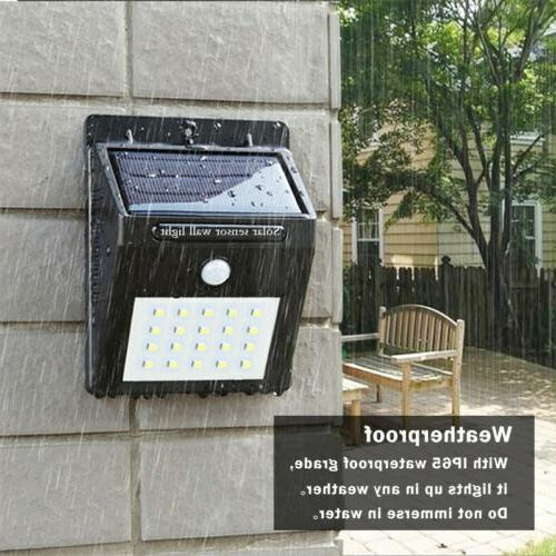 Outdoor 4 X Solar Wall Road Lights Yard