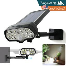 LED Solar Flood Light Motion Sensor Security Spot Wall Stree