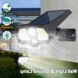 LED Solar Motion Sensor Wall Spot Light Under Ground Landsca