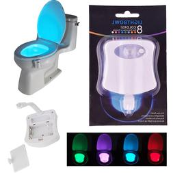 Motion Activated Toilet Night Light Bowl Bathroom LED 8 Colo