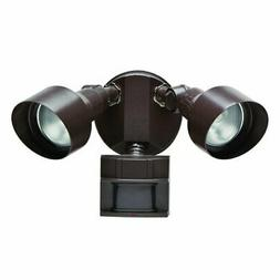Defiant 180 Degree Outdoor Motion Security Light - Bronze Fi