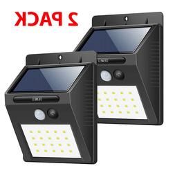 Motion Sensor Lights Solar Activated Outdoor Security Deck W