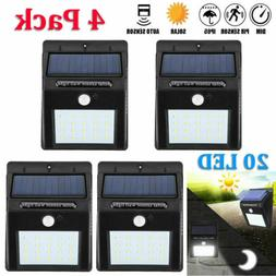 outdoor 4 x 20led solar wall road