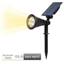 Outdoor  Solar Power  Landscape Light Spotlights  Garden Law