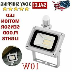 PIR Motion Sensor LED Flood Light Outdoor Spotlight Security