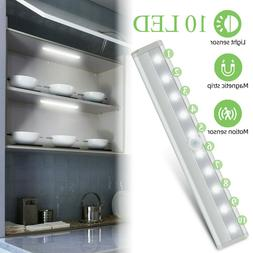 10-LED Motion Sensor Closet Light Wireless Night Light Cabin