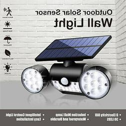 Solar Panel LED Light Flood Lamp Outdoor Home Security Motio
