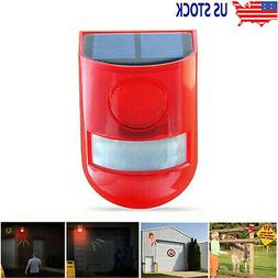 Solar Alarm Light Solar Strobe Light Wireless Motion Sensor